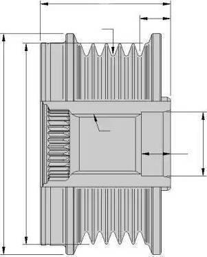 HELLA 9XU 358 038-121 - Ģeneratora brīvgaitas mehānisms autodraugiem.lv