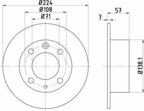 HELLA 8DD 355 100-681 - Bremžu diski autodraugiem.lv