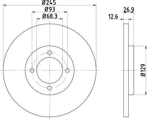 HELLA 8DD 355 100-021 - Bremžu diski autodraugiem.lv