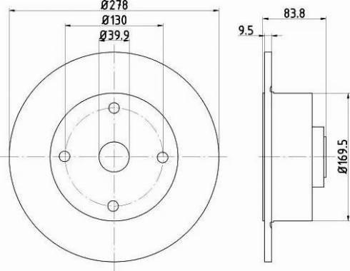 HELLA 8DD 355 100-101 - Bremžu diski autodraugiem.lv