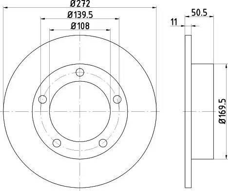 HELLA 8DD 355 100-381 - Bremžu diski autodraugiem.lv
