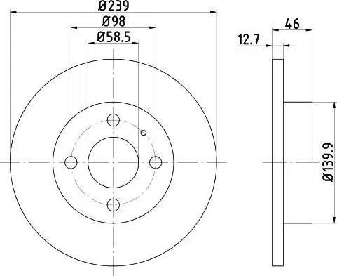 HELLA 8DD 355 101-861 - Bremžu diski autodraugiem.lv