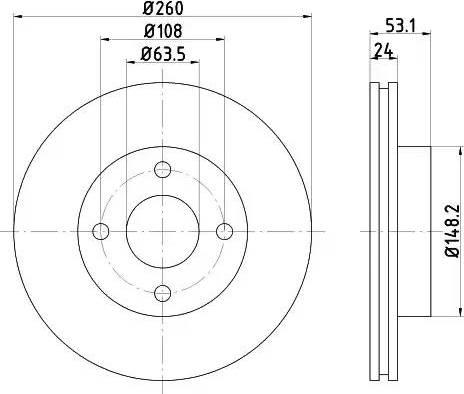 HELLA 8DD 355 101-391 - Bremžu diski autodraugiem.lv