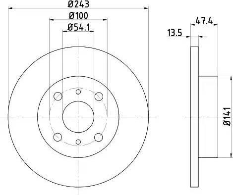 HELLA 8DD 355 101-301 - Bremžu diski autodraugiem.lv