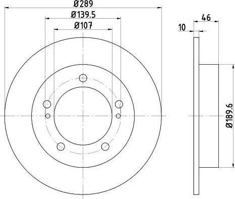 HELLA 8DD 355 101-291 - Bremžu diski autodraugiem.lv