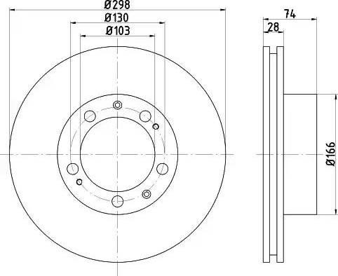 HELLA 8DD 355 102-311 - Bremžu diski autodraugiem.lv