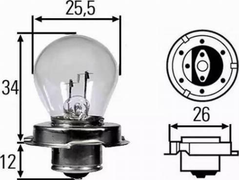 HELLA 8GA 008 899-121 - Kvēlspuldze, Tālās gaismas lukturis autodraugiem.lv