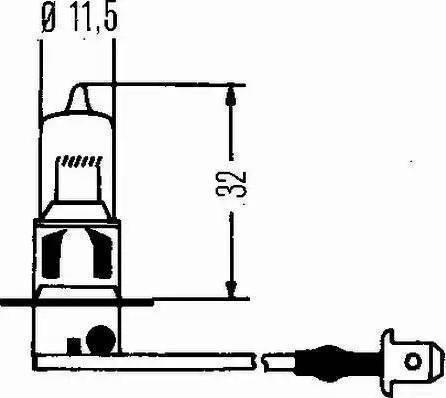 HELLA 8GH 002 090-151 - Kvēlspuldze, Pamatlukturis autodraugiem.lv