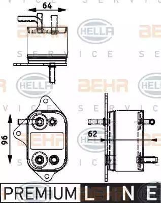 HELLA 8MK376745011 - Degvielas radiators autodraugiem.lv