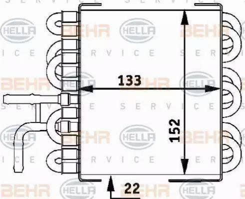 HELLA 8MK376717411 - Degvielas radiators autodraugiem.lv