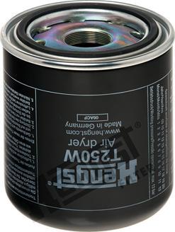 Hengst Filter T250W - Gaisa sausinātāja patrona, Gaisa kompresors autodraugiem.lv