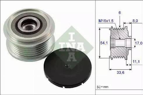 INA 535 0059 10 - Ģeneratora brīvgaitas mehānisms autodraugiem.lv