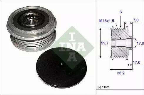 INA 535 0064 10 - Ģeneratora brīvgaitas mehānisms autodraugiem.lv