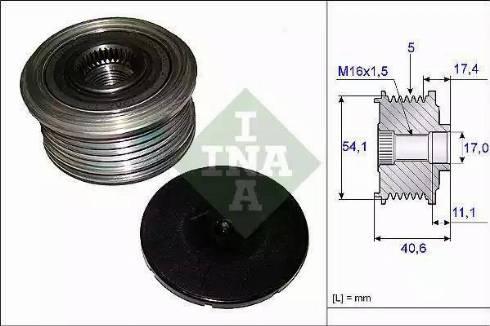 INA 535 0089 10 - Ģeneratora brīvgaitas mehānisms autodraugiem.lv
