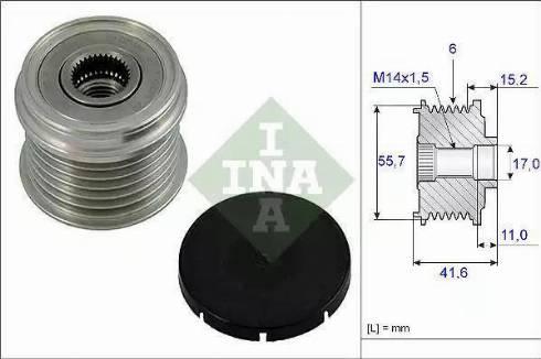 INA 535 0024 10 - Ģeneratora brīvgaitas mehānisms autodraugiem.lv