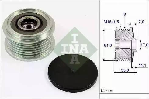INA 535 0022 10 - Ģeneratora brīvgaitas mehānisms autodraugiem.lv