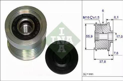 INA 535 0072 10 - Ģeneratora brīvgaitas mehānisms autodraugiem.lv