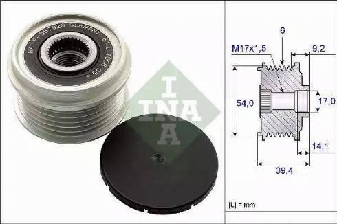 INA 535 0151 10 - Ģeneratora brīvgaitas mehānisms autodraugiem.lv