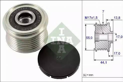 INA 535 0167 10 - Ģeneratora brīvgaitas mehānisms autodraugiem.lv