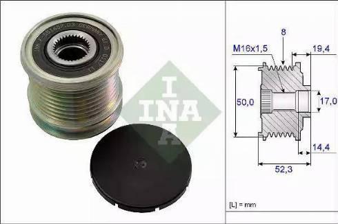 INA 535 0111 10 - Ģeneratora brīvgaitas mehānisms autodraugiem.lv