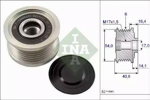 INA 535 0112 10 - Ģeneratora brīvgaitas mehānisms autodraugiem.lv