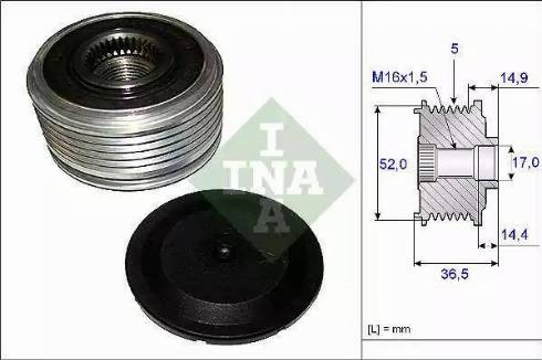 INA 535 0129 10 - Ģeneratora brīvgaitas mehānisms autodraugiem.lv
