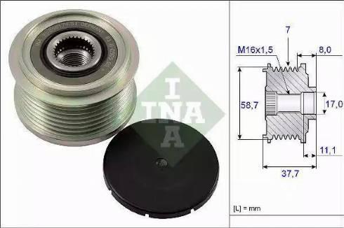 INA 535 0128 10 - Ģeneratora brīvgaitas mehānisms autodraugiem.lv