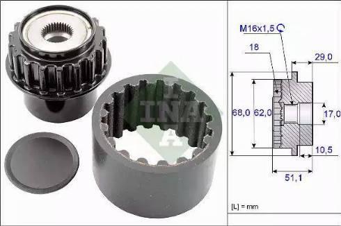 INA 535020610 - Elastīgo sajūga uzmavu komplekts autodraugiem.lv