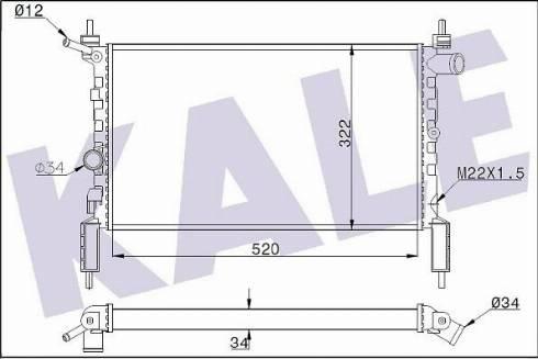 KALE OTO RADYATÖR 346195 - Radiators, Motora dzesēšanas sistēma autodraugiem.lv