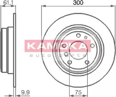 Kamoka 103442 - Bremžu diski autodraugiem.lv