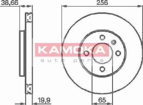 Kamoka 103414 - Bremžu diski autodraugiem.lv