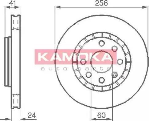 Kamoka 103412 - Bremžu diski autodraugiem.lv