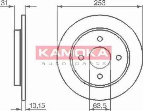 Kamoka 103562 - Bremžu diski autodraugiem.lv