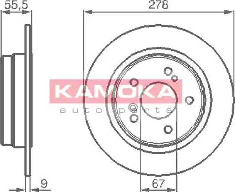 Kamoka 1031638 - Bremžu diski autodraugiem.lv