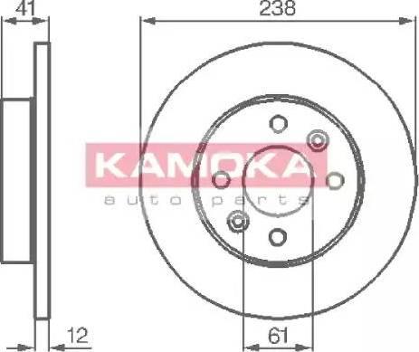 Kamoka 103110 - Bremžu diski autodraugiem.lv