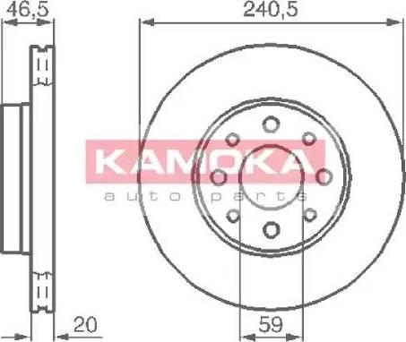 Kamoka 1031776 - Bremžu diski autodraugiem.lv