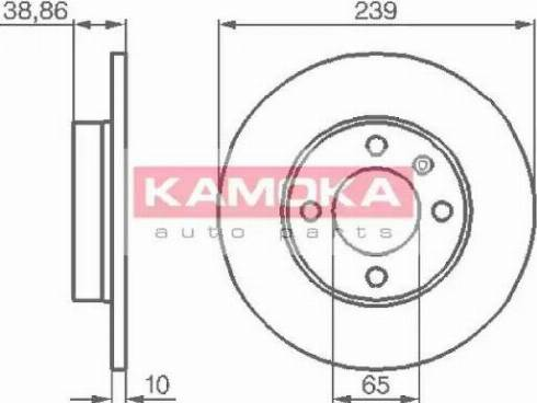 Kamoka 10384 - Bremžu diski autodraugiem.lv