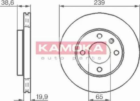 Kamoka 103350 - Bremžu diski autodraugiem.lv