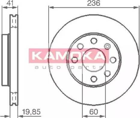 Kamoka 103302 - Bremžu diski autodraugiem.lv