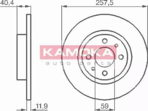 Kamoka 103282 - Bremžu diski autodraugiem.lv