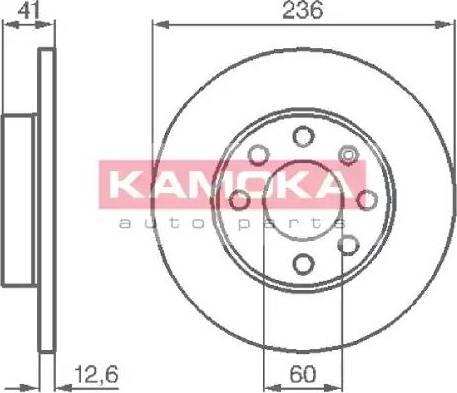 Kamoka 103232 - Bremžu diski autodraugiem.lv