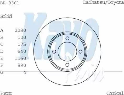 Kavo Parts BR-9301 - Bremžu diski autodraugiem.lv