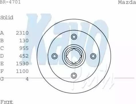 Kavo Parts BR-4701 - Bremžu diski autodraugiem.lv