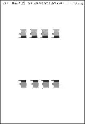 Kawe 109-1132 - Piederumu komplekts, Disku bremžu uzlikas autodraugiem.lv