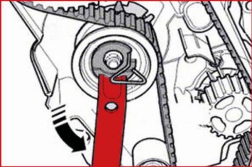 KS Tools 400.9010 - Atslēga, Zobsiksnas nospriegojums autodraugiem.lv