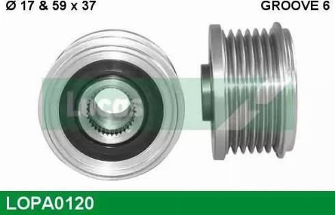 Lucas Engine Drive LOPA0120 - Ģeneratora brīvgaitas mehānisms autodraugiem.lv