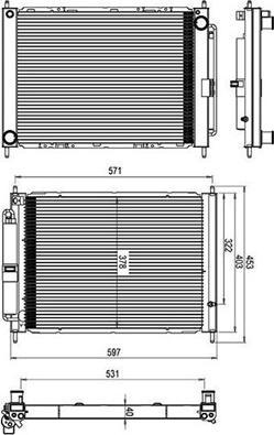 Magneti Marelli 359000310030 - Radiators, Motora dzesēšanas sistēma autodraugiem.lv