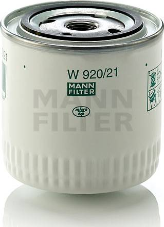 Mann-Filter W 920/21 (10) - Filtrs, Hidropacēlāja sistēma autodraugiem.lv