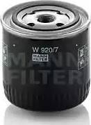 Mann-Filter W920/7 - Filtrs, Hidropacēlāja sistēma autodraugiem.lv