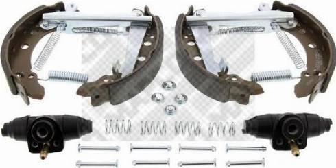 Mapco 9857 - Bremžu komplekts, trumuļa bremzes autodraugiem.lv